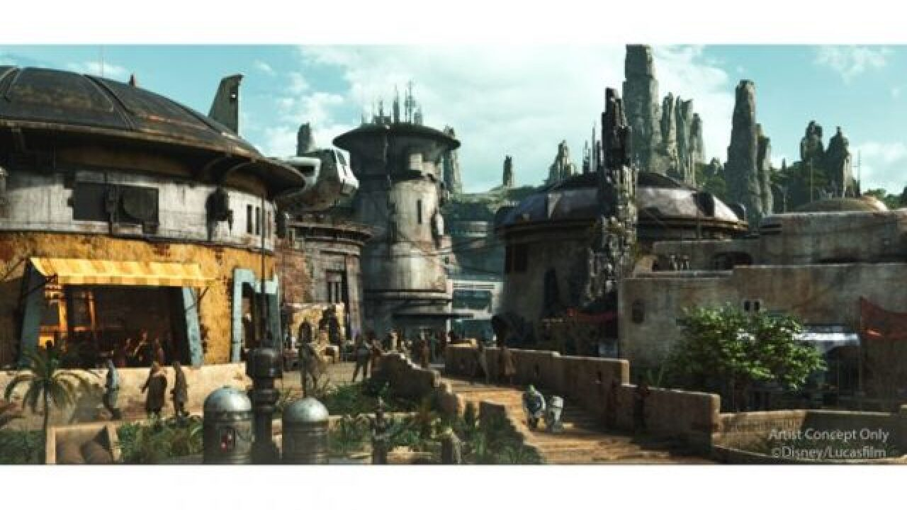 Disney gives glimpse at 'Star Wars' land rides