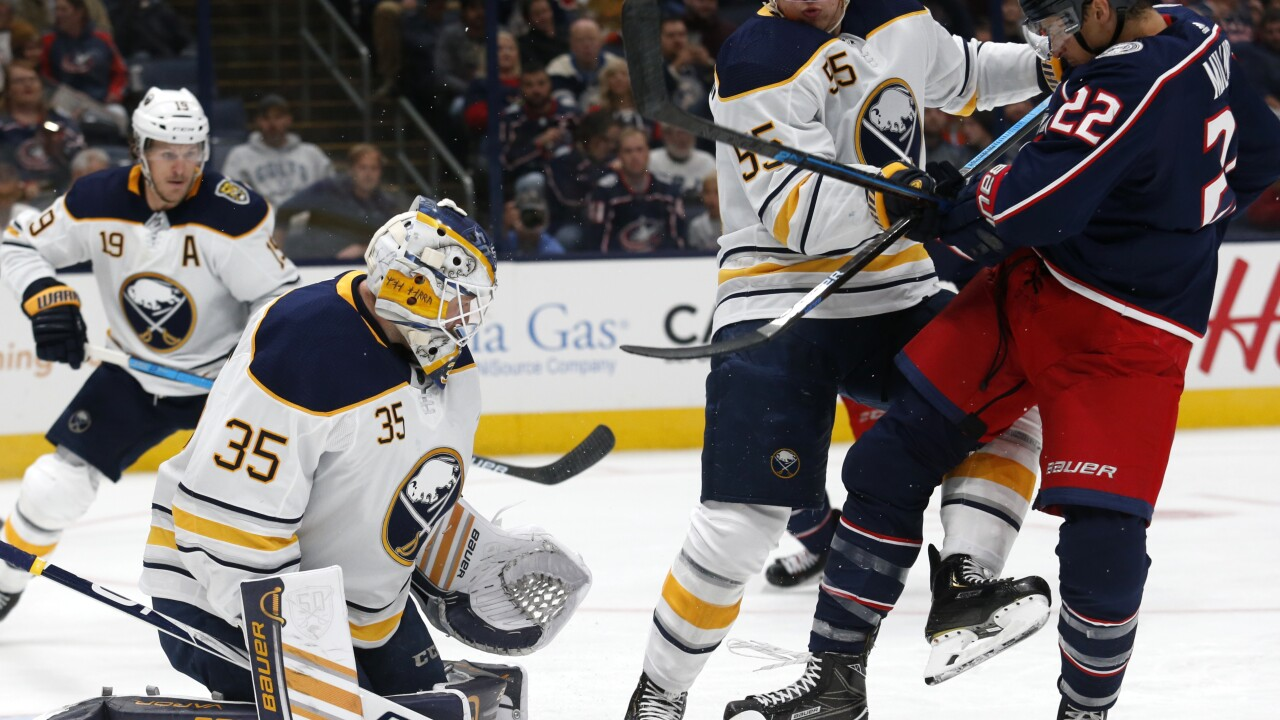 Sabres fall to Blue Jackets 4-3 in overtime and suffer first loss of season