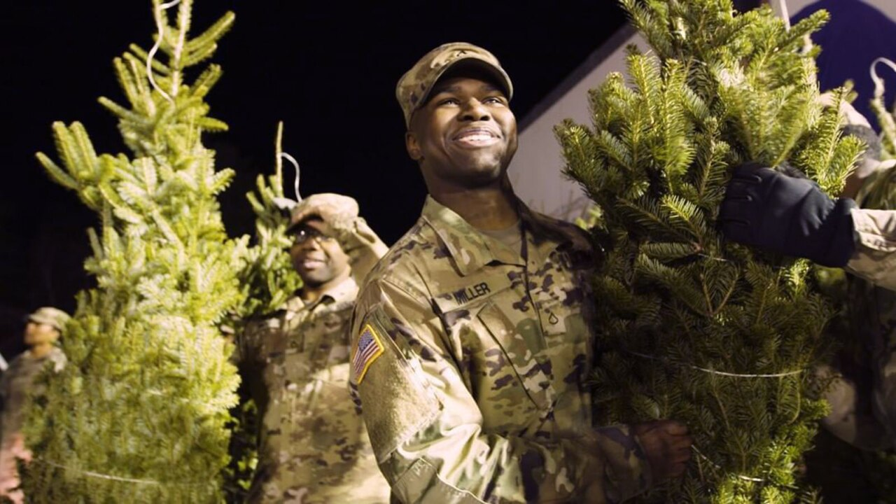 Team of 9 delivers 16,000 Christmas trees to military families