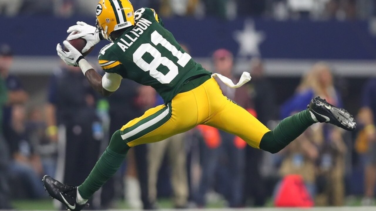 Geronimo Allison ruled out for Sunday night vs. Patriots