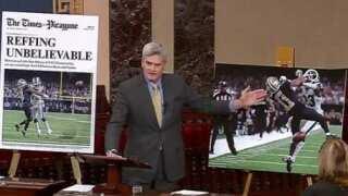 Sen. Cassidy takes Saints-Rams blown call debate to Senate floor