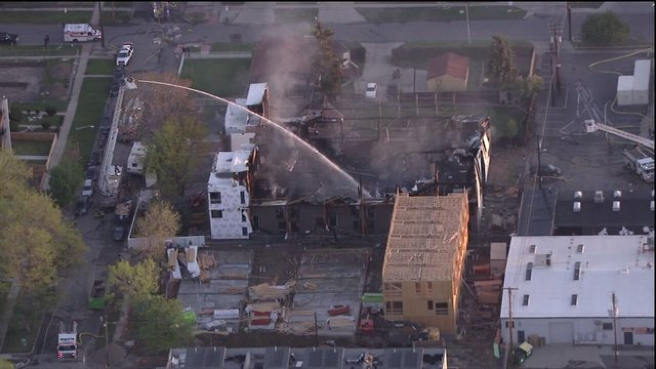 Denver construction site fire and more: 5 Things to Know for Thursday, May 10, 2018