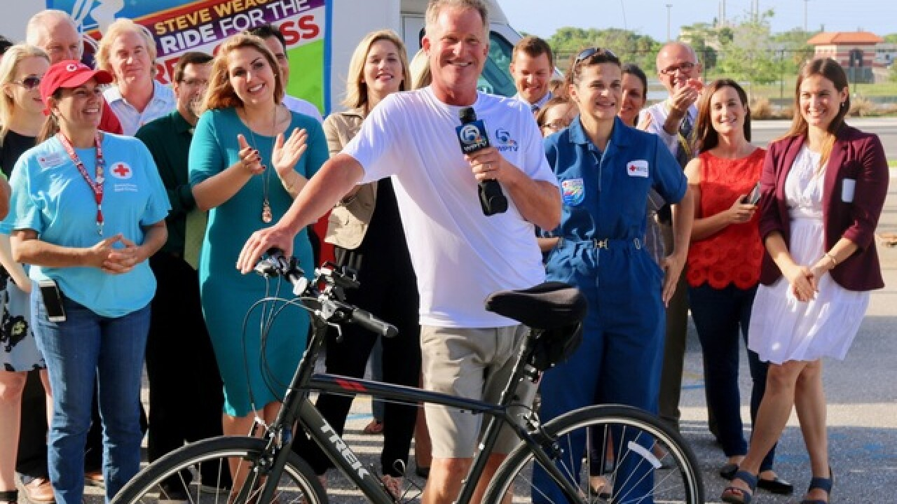 Fun behind the scenes moments from Steve Weagle's Ride for the Red Cross