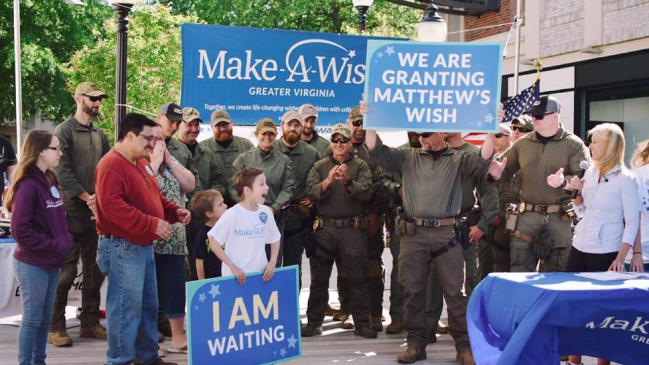 Wish granted for boy with critical illness. He's joining the SWATteam.