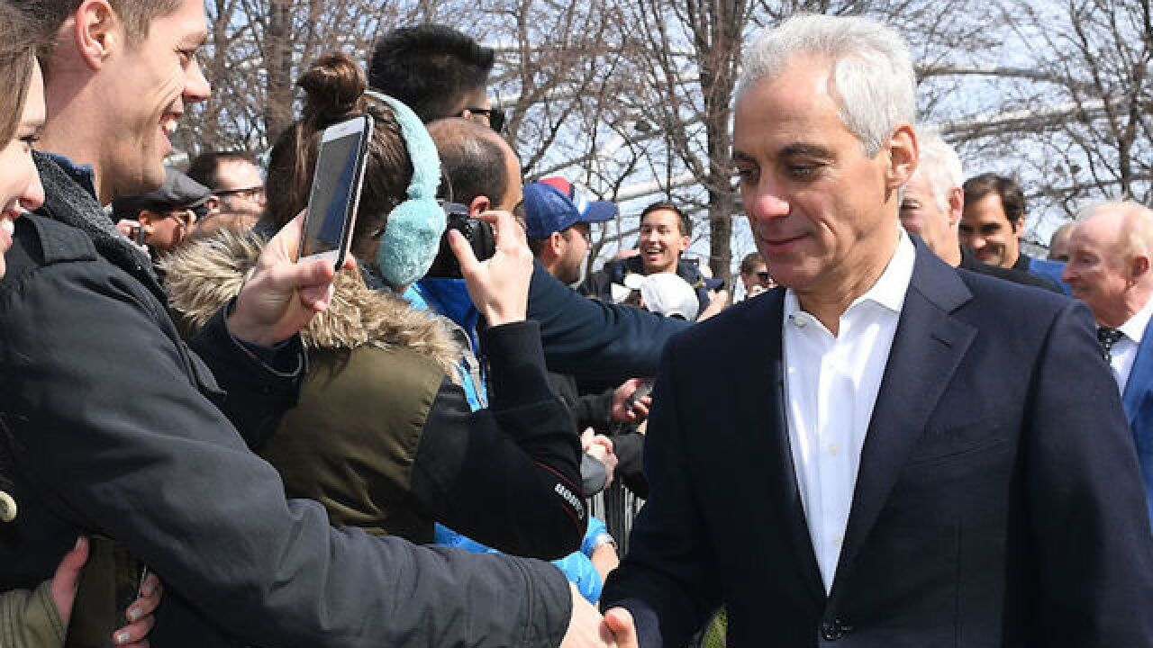 Chicago Mayor Rahm Emanuel says he won't seek re-election