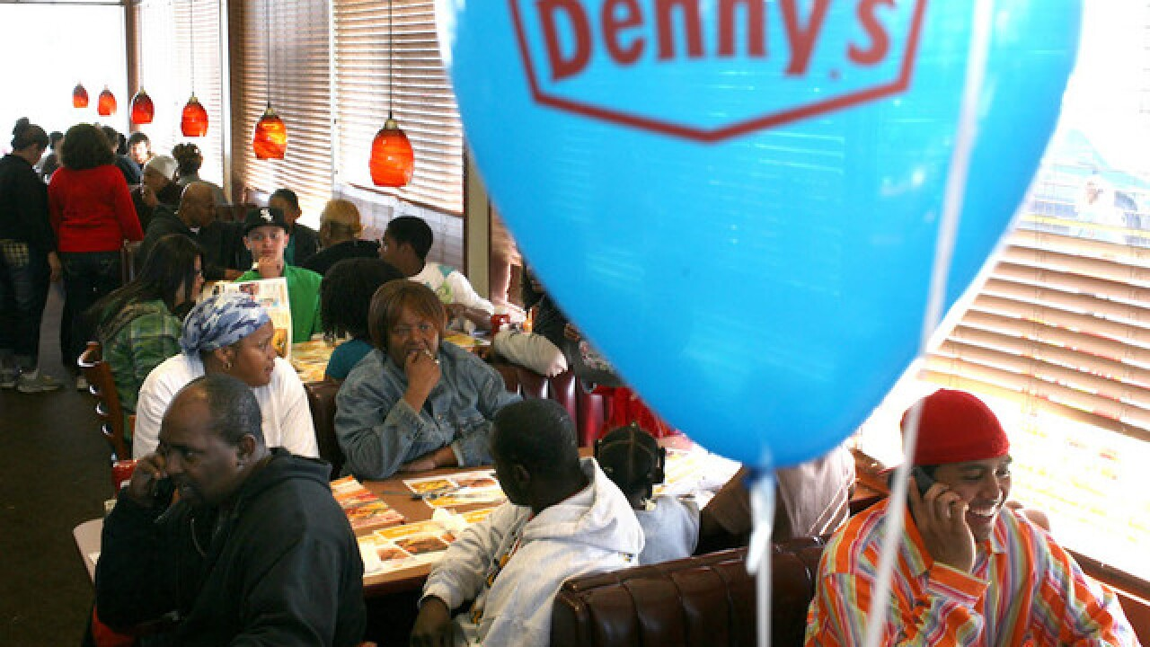Man pours gas on stranger at Denny's, lights him on fire, police say