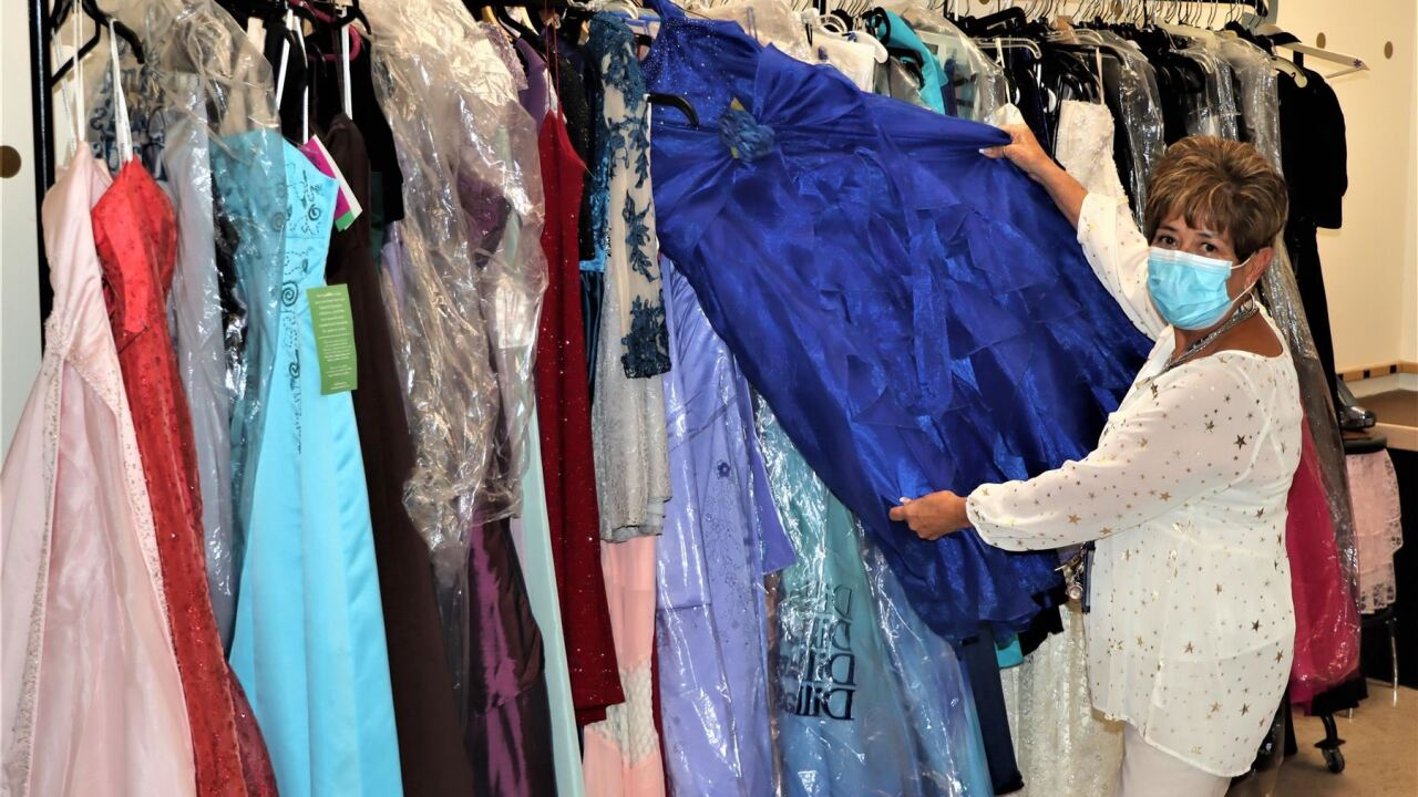 The CATique features dresses, jewelry, men's formal clothes, and shoes all accessible to District 60 students