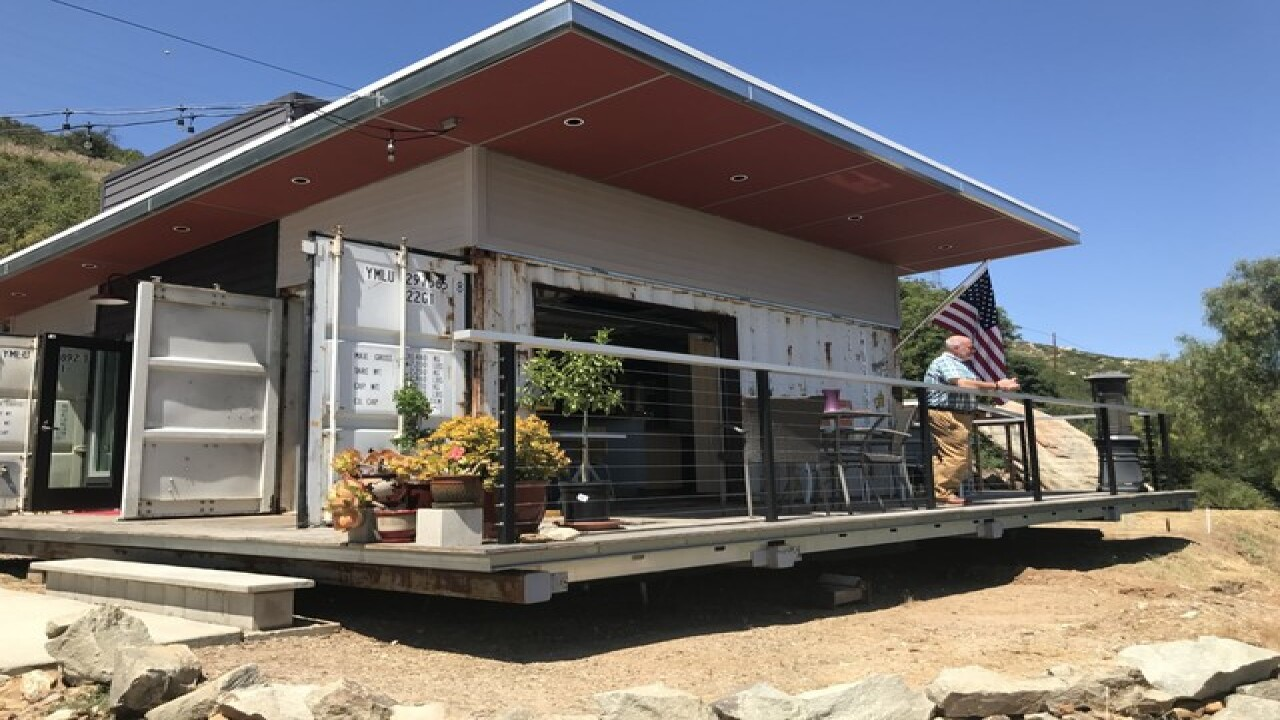 Shipping containers help SD couple live for less
