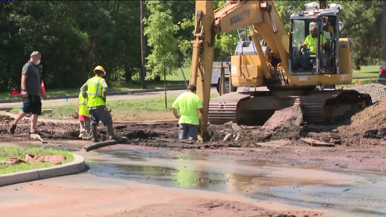 Edison water main break