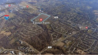 The new development, called Easton Farm, would be mixed-use with both commercial and residential areas, located on the western side of State Route 741 just south of Anna Drive and north Tamarack Trail.