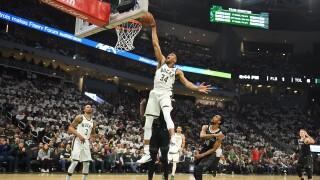 Giannis_Antetokounmpo_Detroit Pistons v Milwaukee Bucks - Game One
