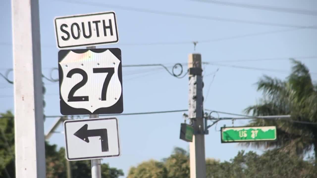 U.S. Highway 27 sign in Clewiston