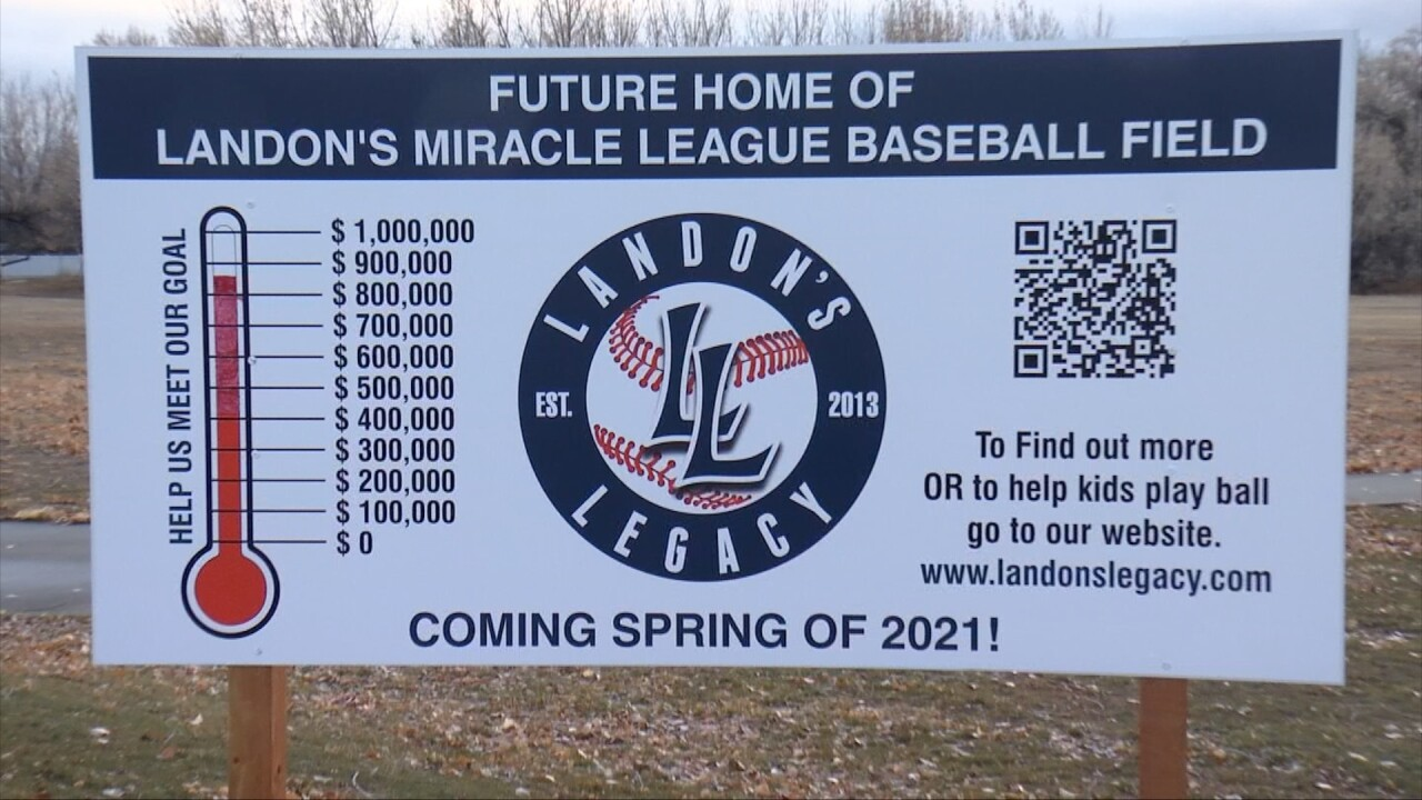 Landon's Miracle Field sign