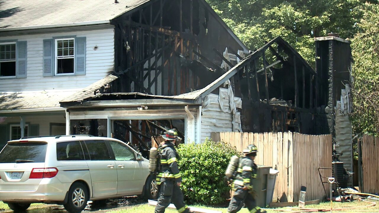Homeowner injured, two dogs dead following Hampton housefire