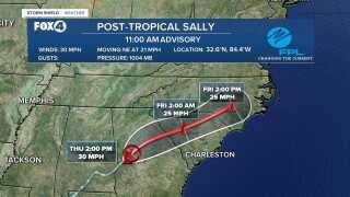 Sally 11 AM Advisory