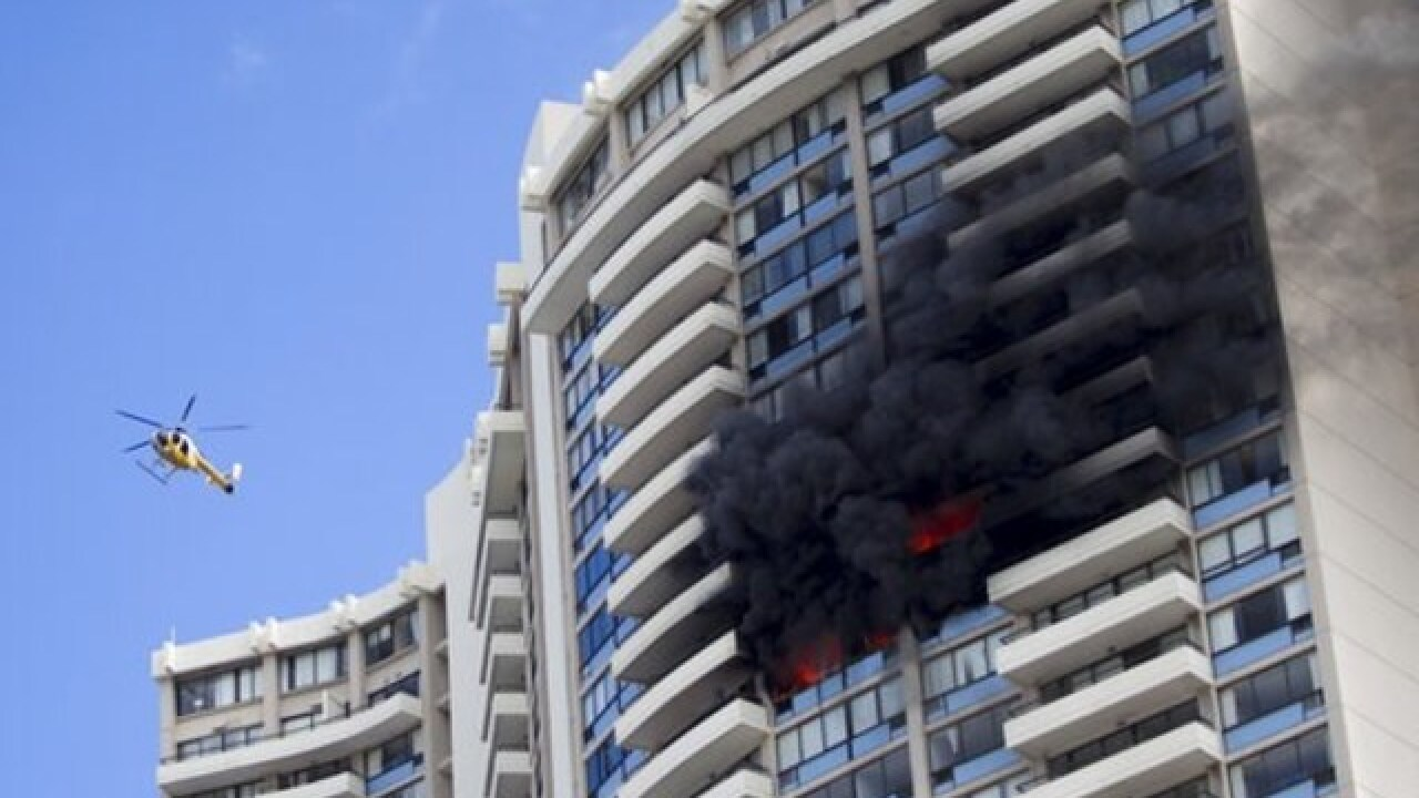At least three dead in Hawaii high rise hotel fire