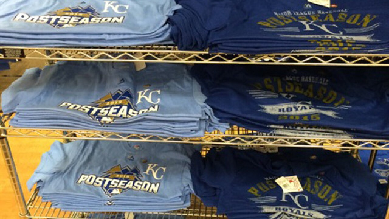 Royals fans hit stores early for postseason gear