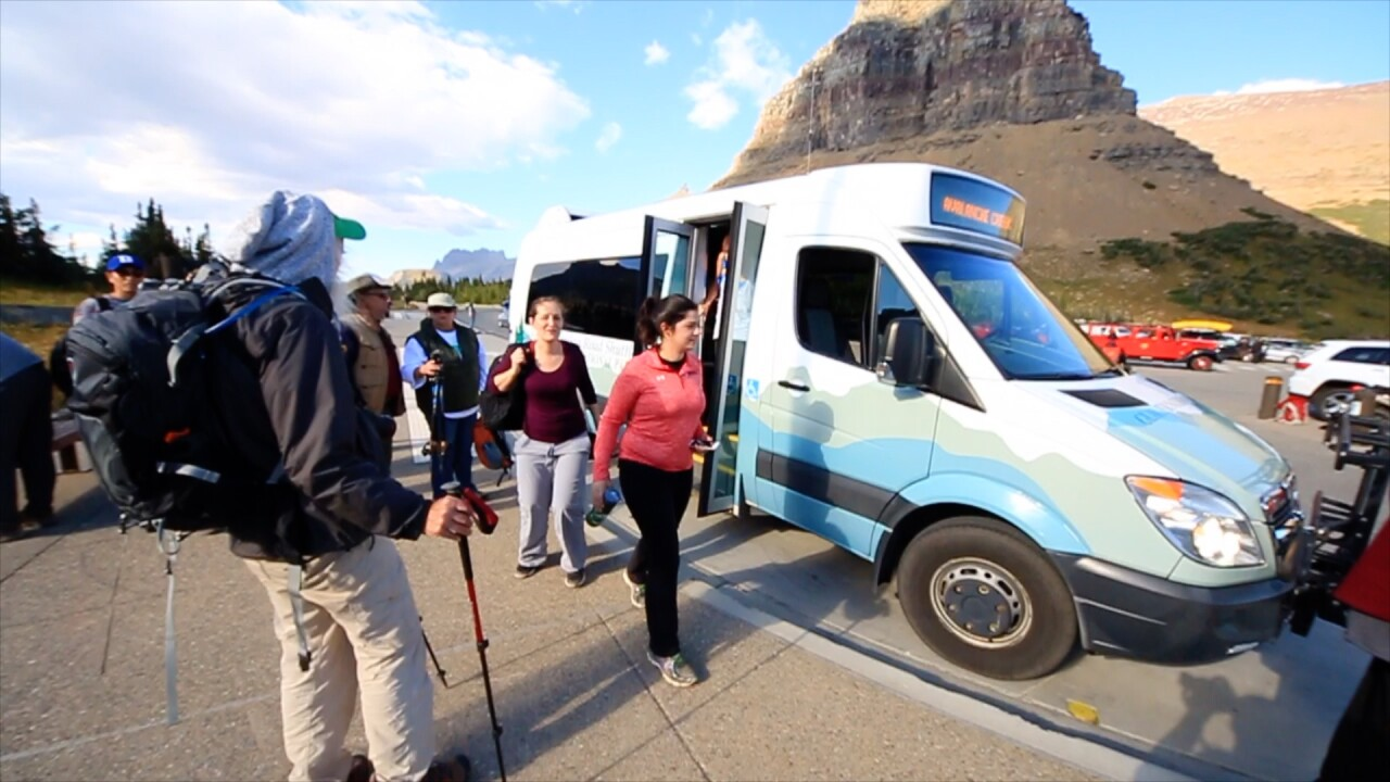 glacier national park bus