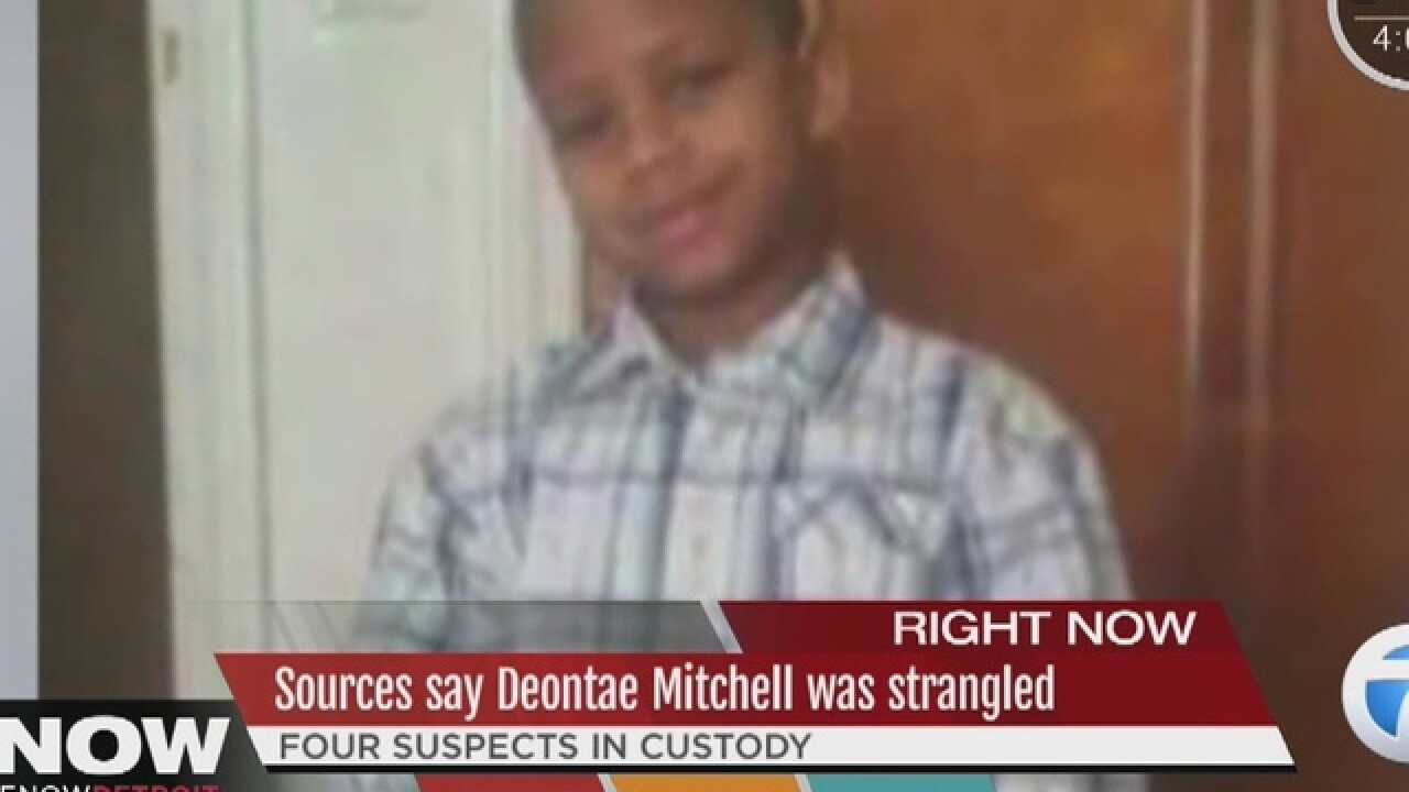 Sources say Deontae died from strangulation