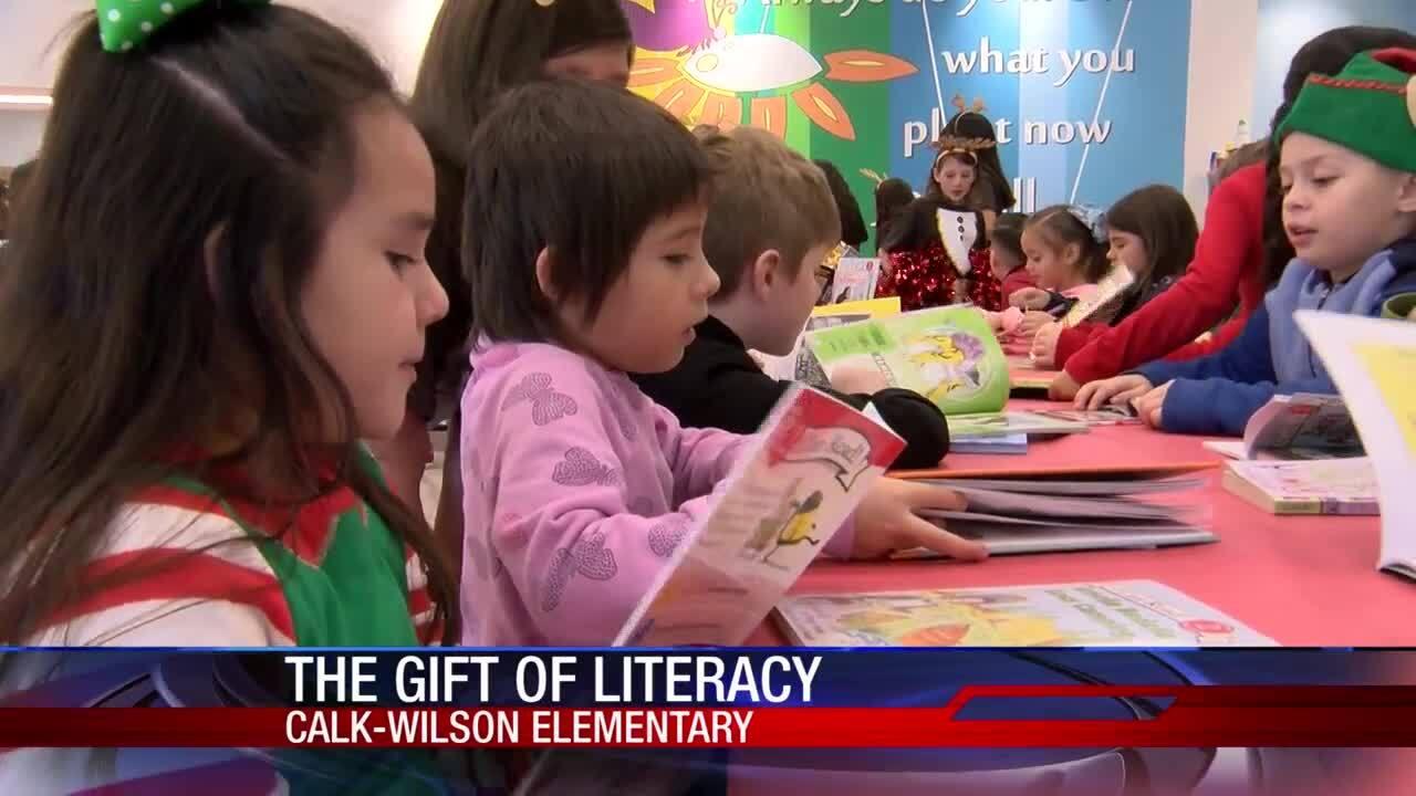 Calk-Wilson Elementary School  students got literacy gifts