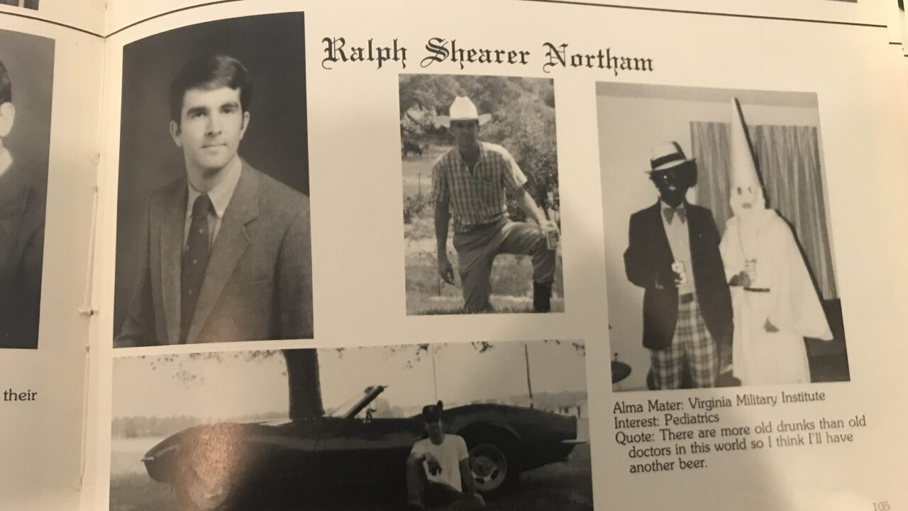 Gov. Northam 'deeply sorry' for EVMS yearbook photo including blackface, Klan costumes; says he will not resign