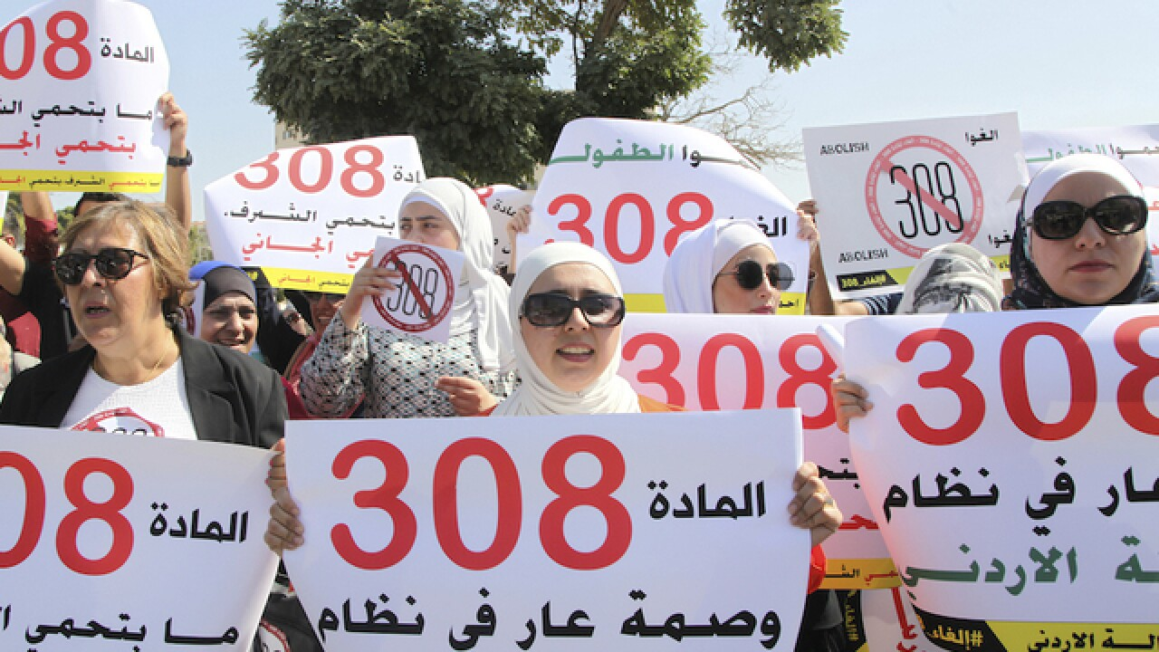 Jordan repeals rule that let rapists go free if they married victim