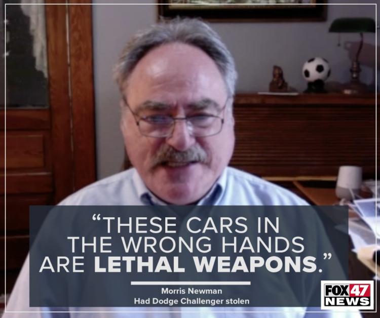 Morris Newman had a Dodge Challenger stolen