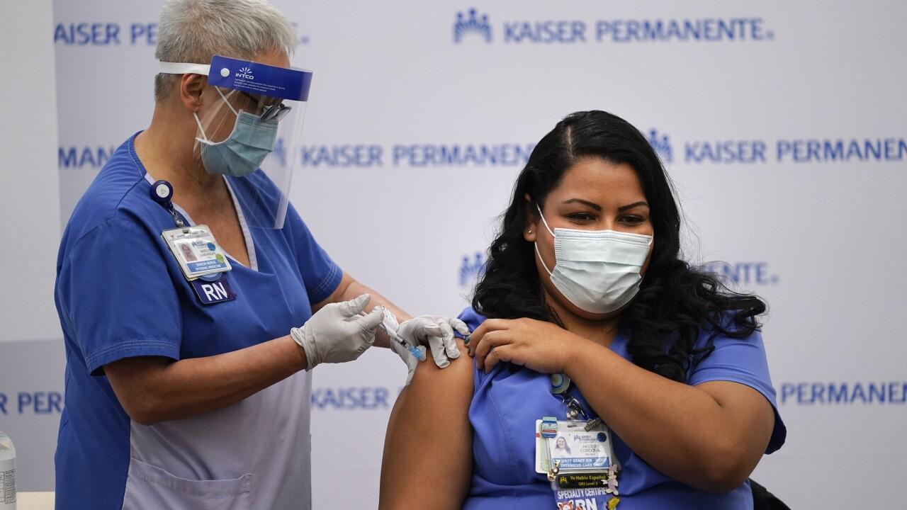 Virus Outbreak Pfizer Vaccine California