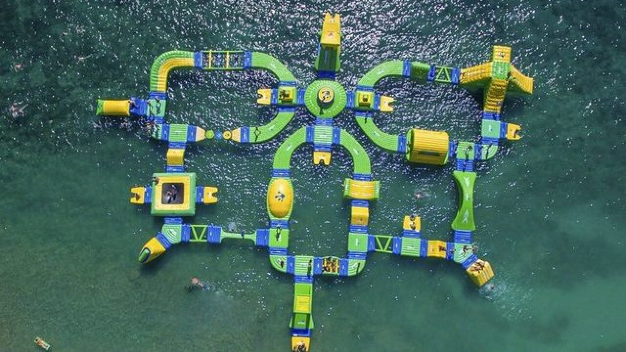 Floating waterpark to open on Lake Michigan