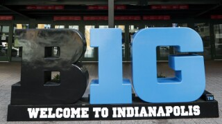 BIG 10 sign in Indianapolis