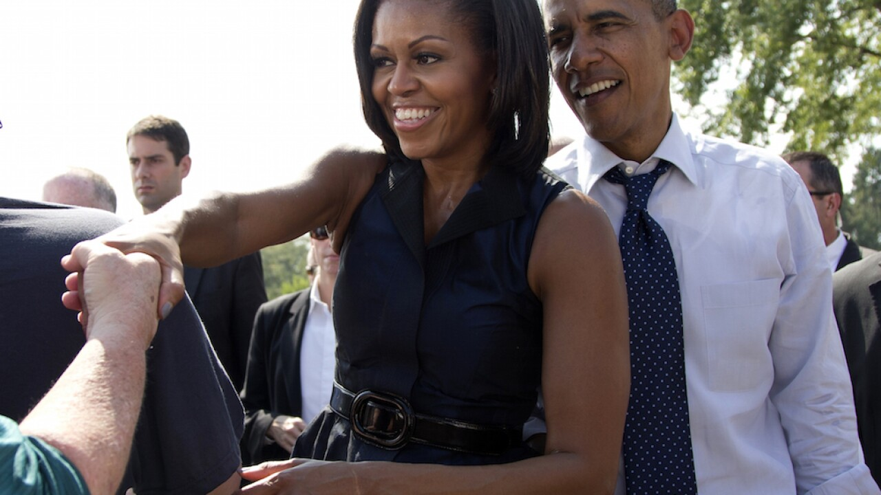 Michelle Obama joined by Barack for online reading series