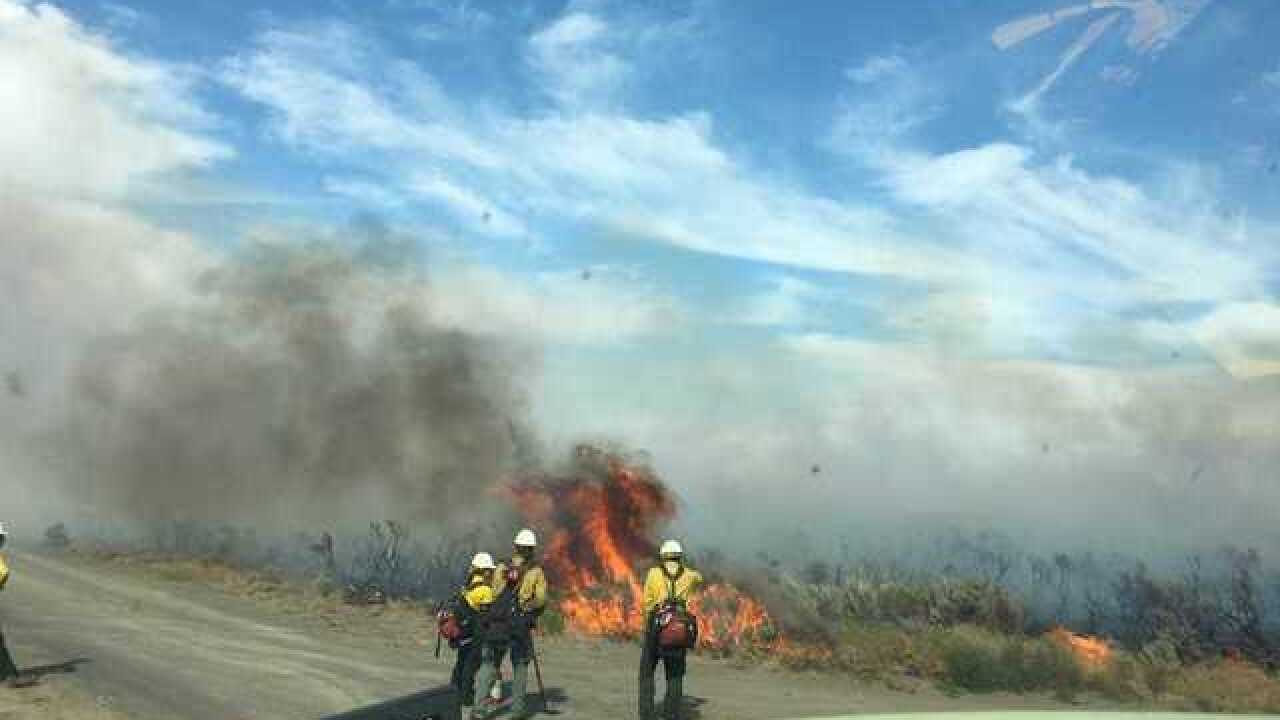 Badger Point fire shuts down Highway 33