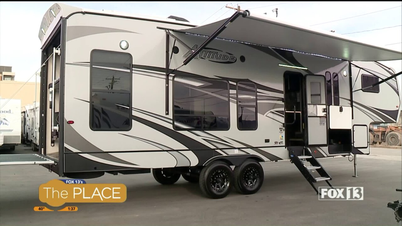 OHV enthusiasts will go nuts for this new toy-hauler RV