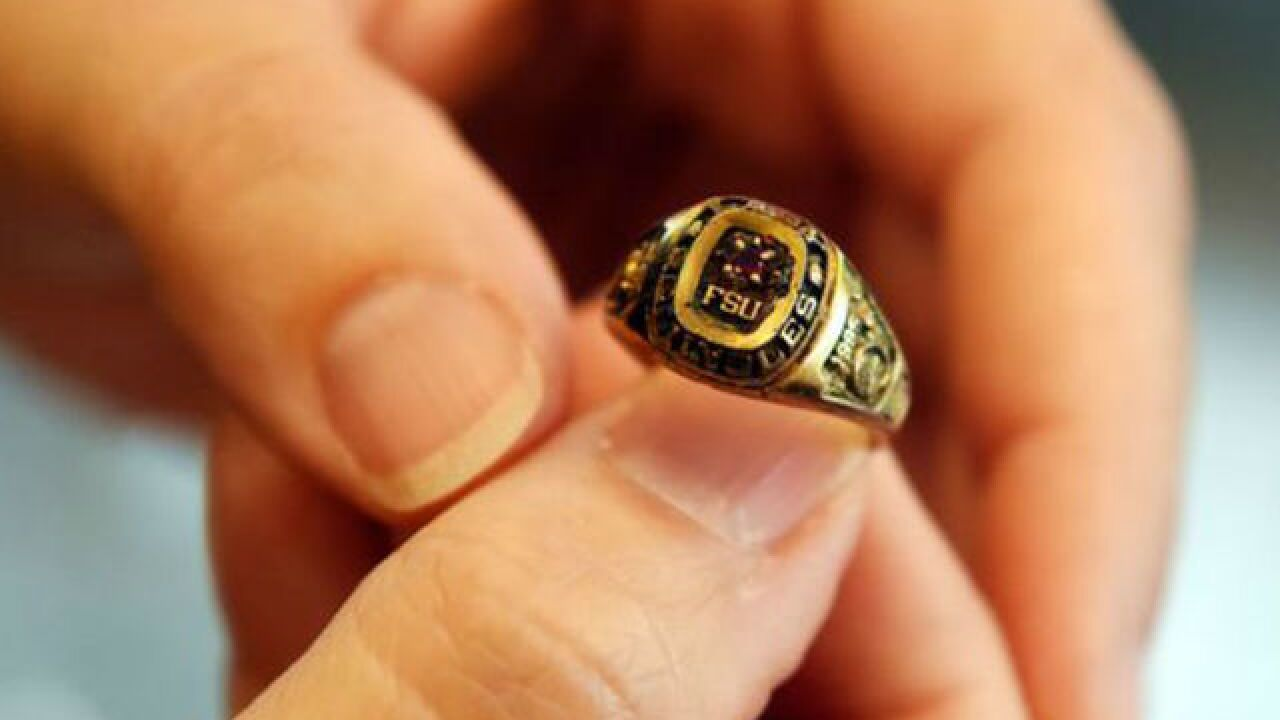 Treasure Coast snorkeler finds Florida State University ring missing for 23 years