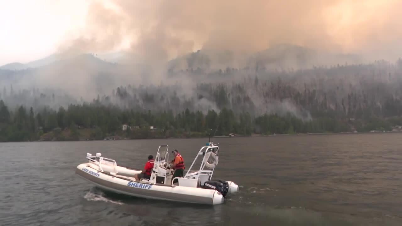 Boulder Fire Flathead Lake