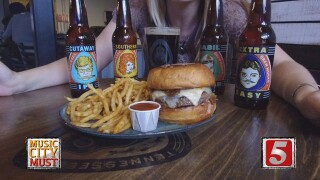 Flavor-Packed Five Beer Burger At Tennessee Brew Works