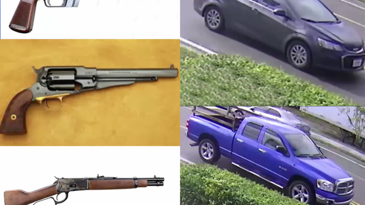 Dangerous murder suspects stole 31 firearms