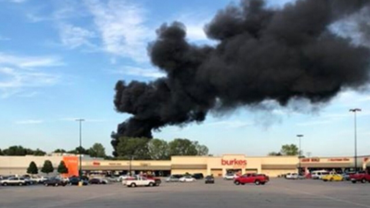 Firefighters Respond To Tire Fire At Scrap Yard