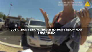 Body camera video shows Goodyear police questioning mom who left baby in car