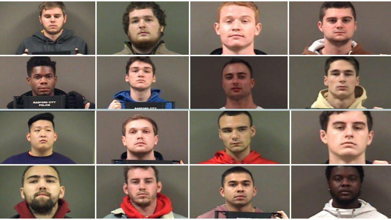 Radford students arrested for hazing at banishedfraternity