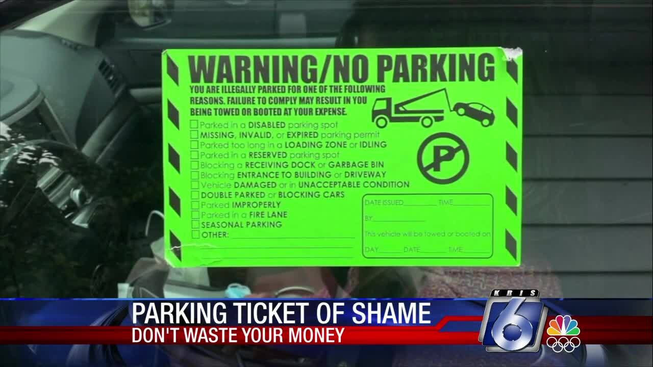 """Consumers beware this """"parking sticker of shame"""""""