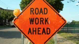 Road construction suspended until Tuesday