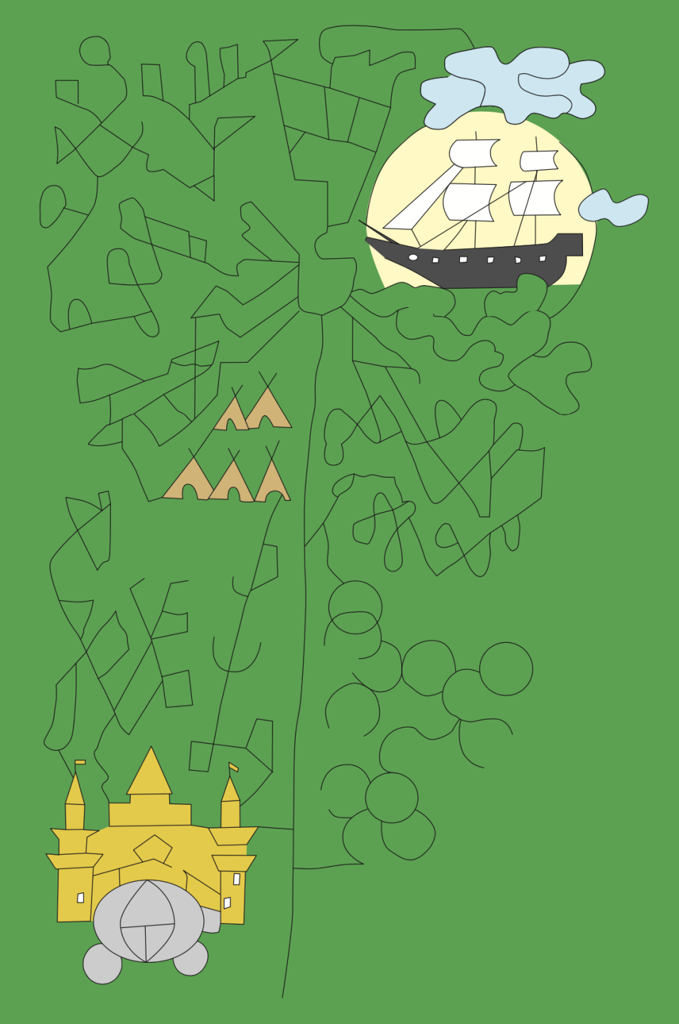 Corn Maze Layout for 2021