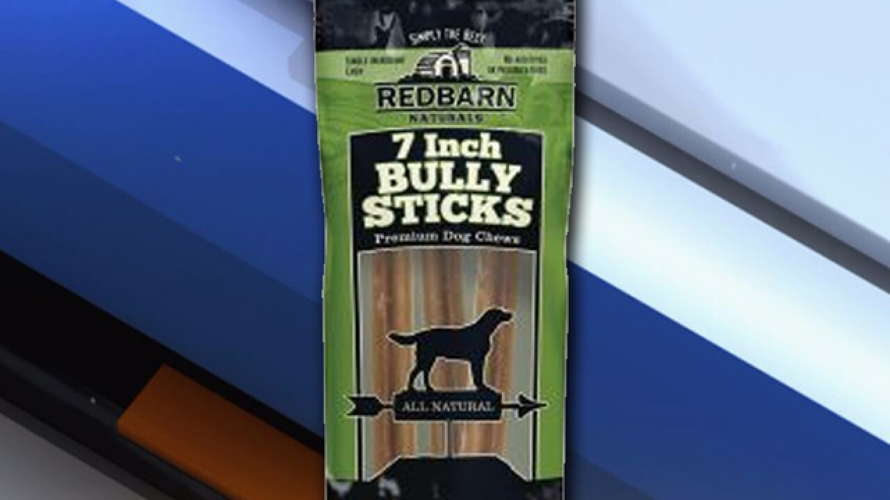 Dog chews recalled over possible salmonella risk