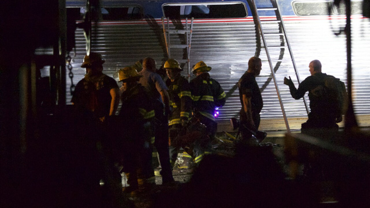 Amtrak train derails in Philadelphia