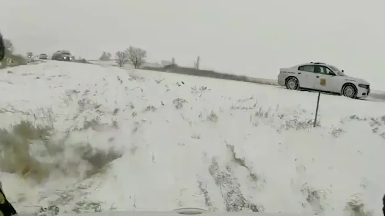 Video Extra: Near miss on icy highway