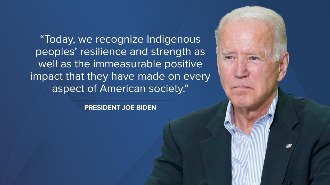 Biden Indigenous People's Day