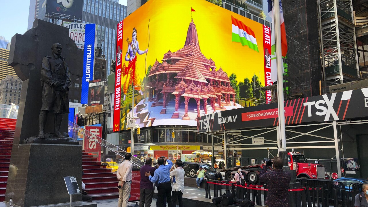 India Temple Dispute Times Square