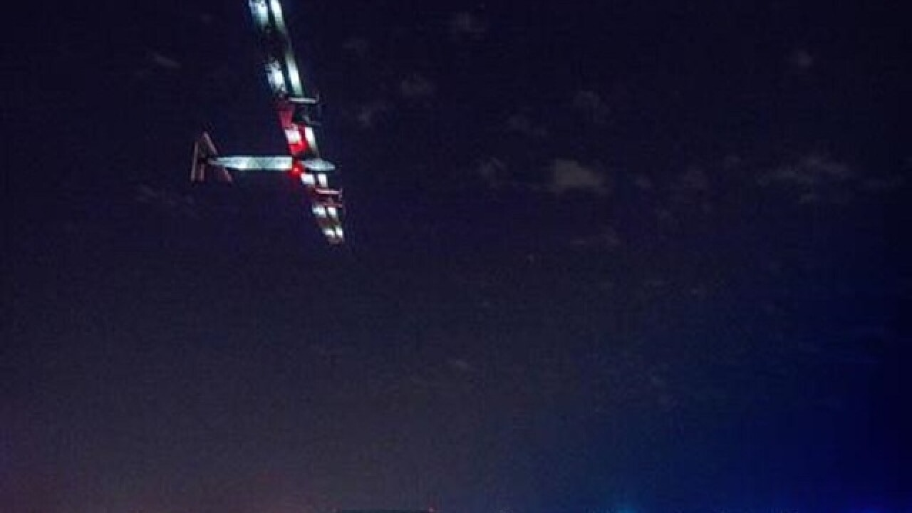 Swiss officials say solar-powered plane lands in Spain