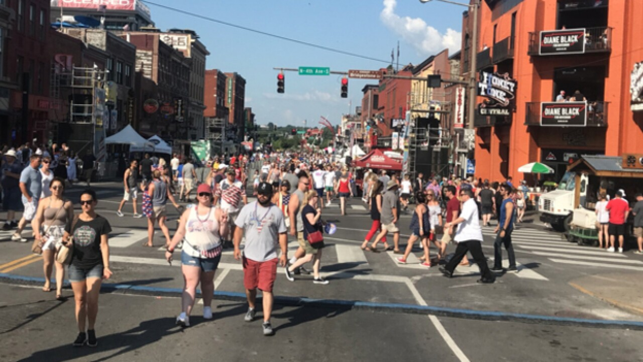 Thousands Celebrate The 4th Of July In Downtown Nashville